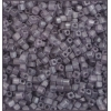 Square Beads 2.6x2.6mm Square Hole Grey Luster Matte